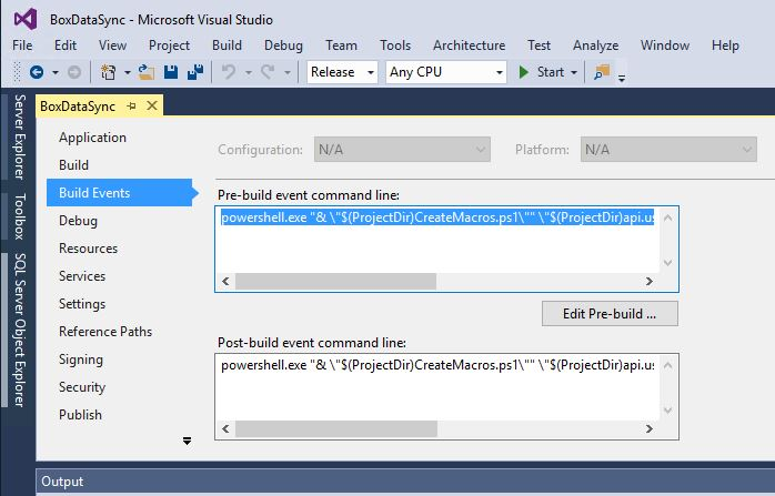 visual-studio-pre-build-events